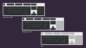 Common mechanical keyboard sizes