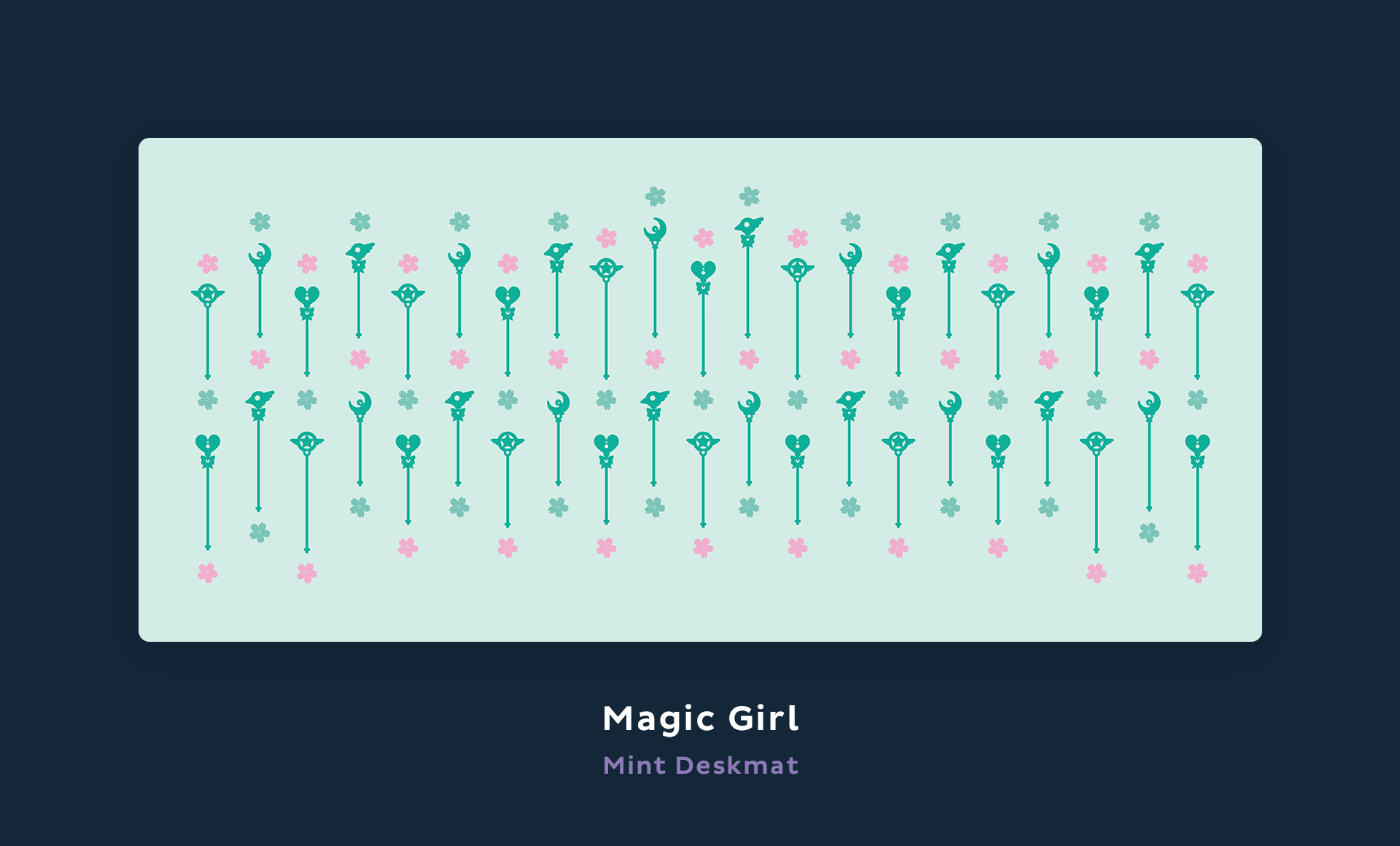 Magic Girl mint deskmat.