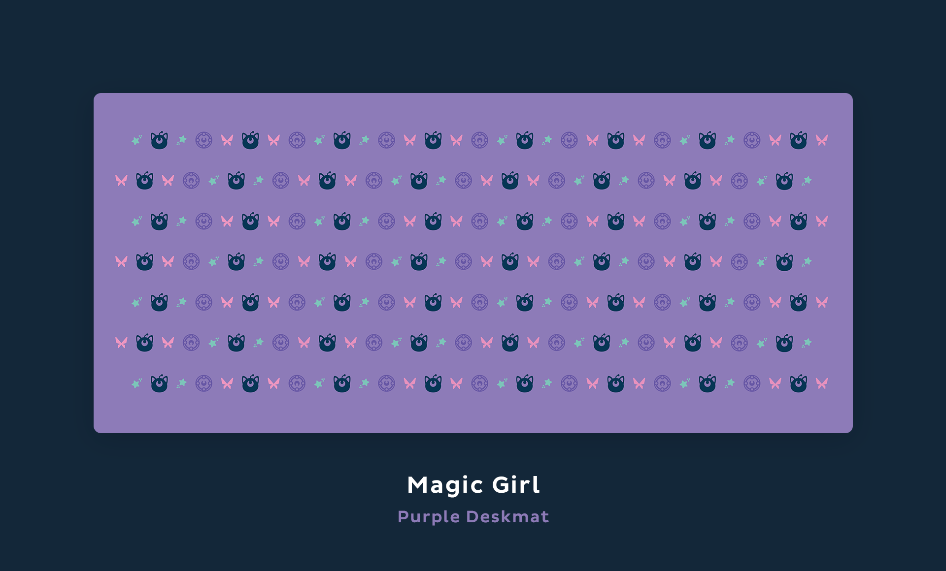 Magic Girl purple deskmat.