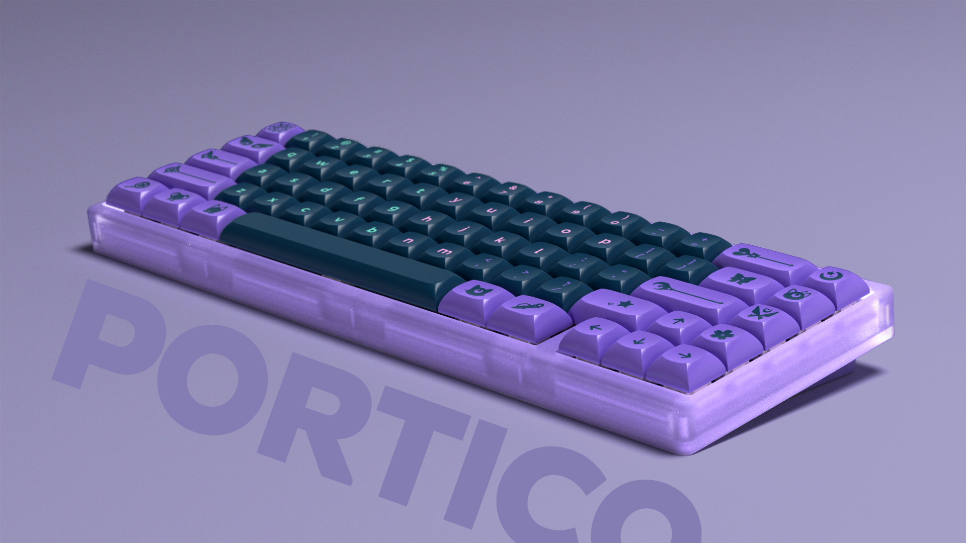 Purple Portico keyboard with Dark Magic Girl.