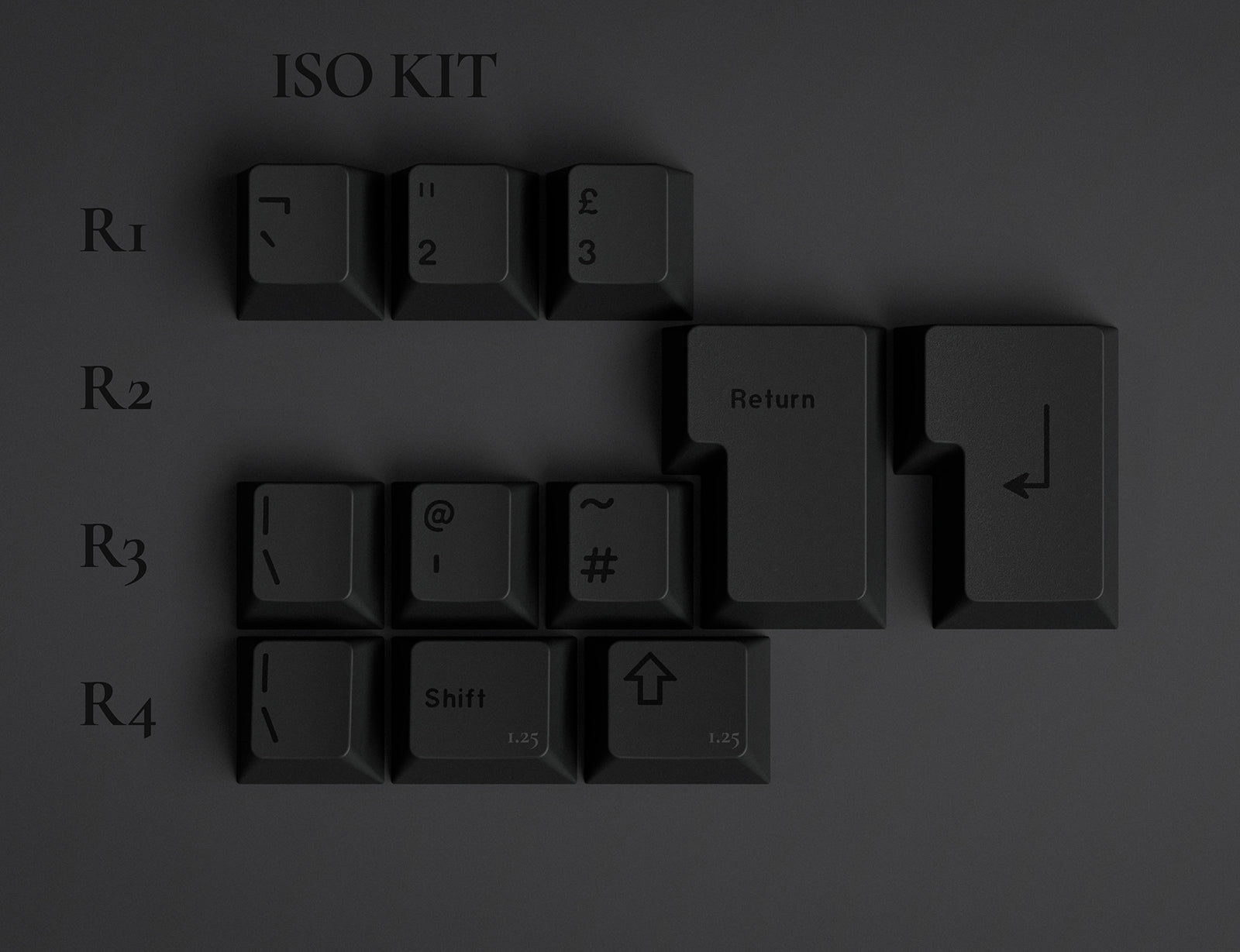 GMK Dark ISO kit