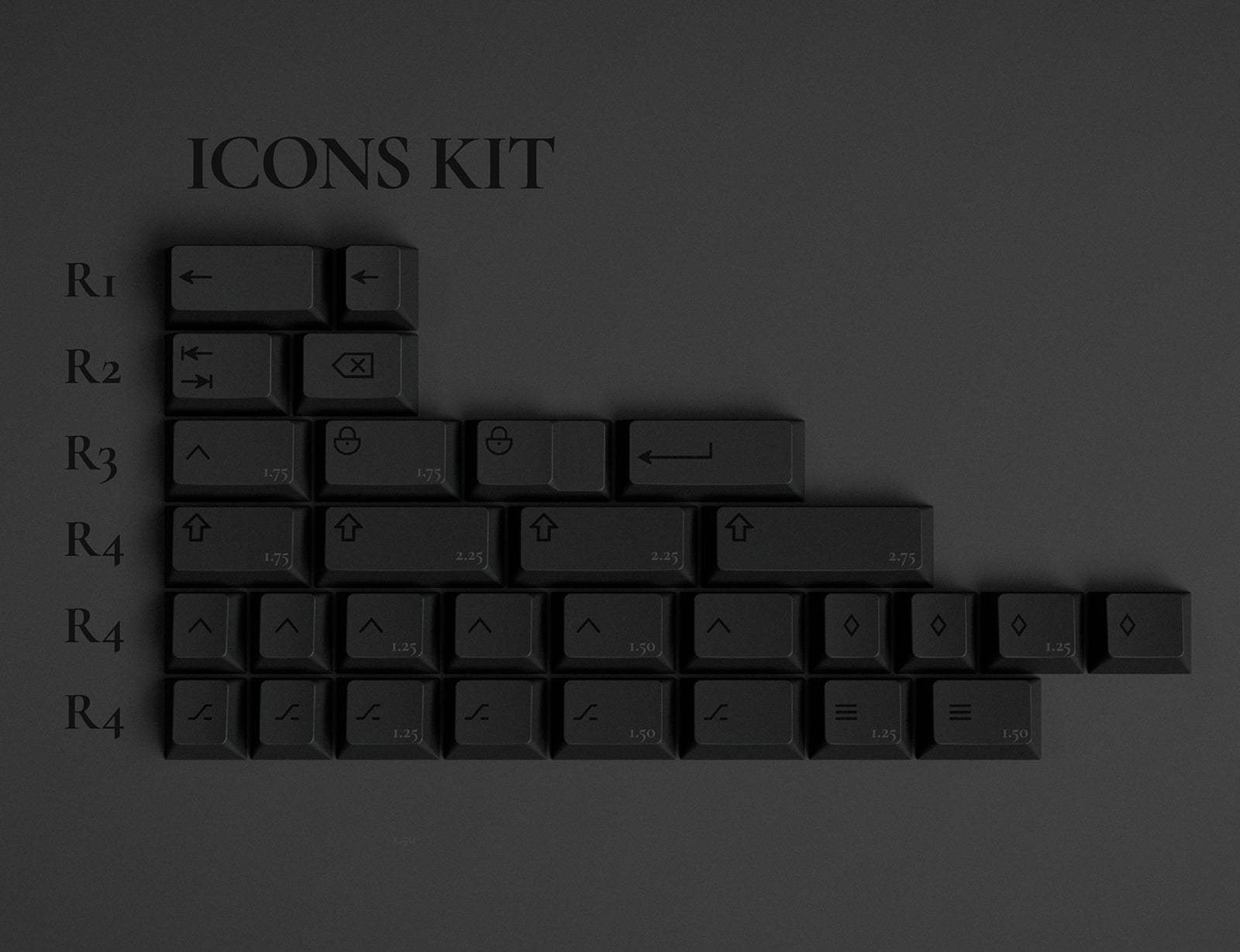 GMK Dark icons kit