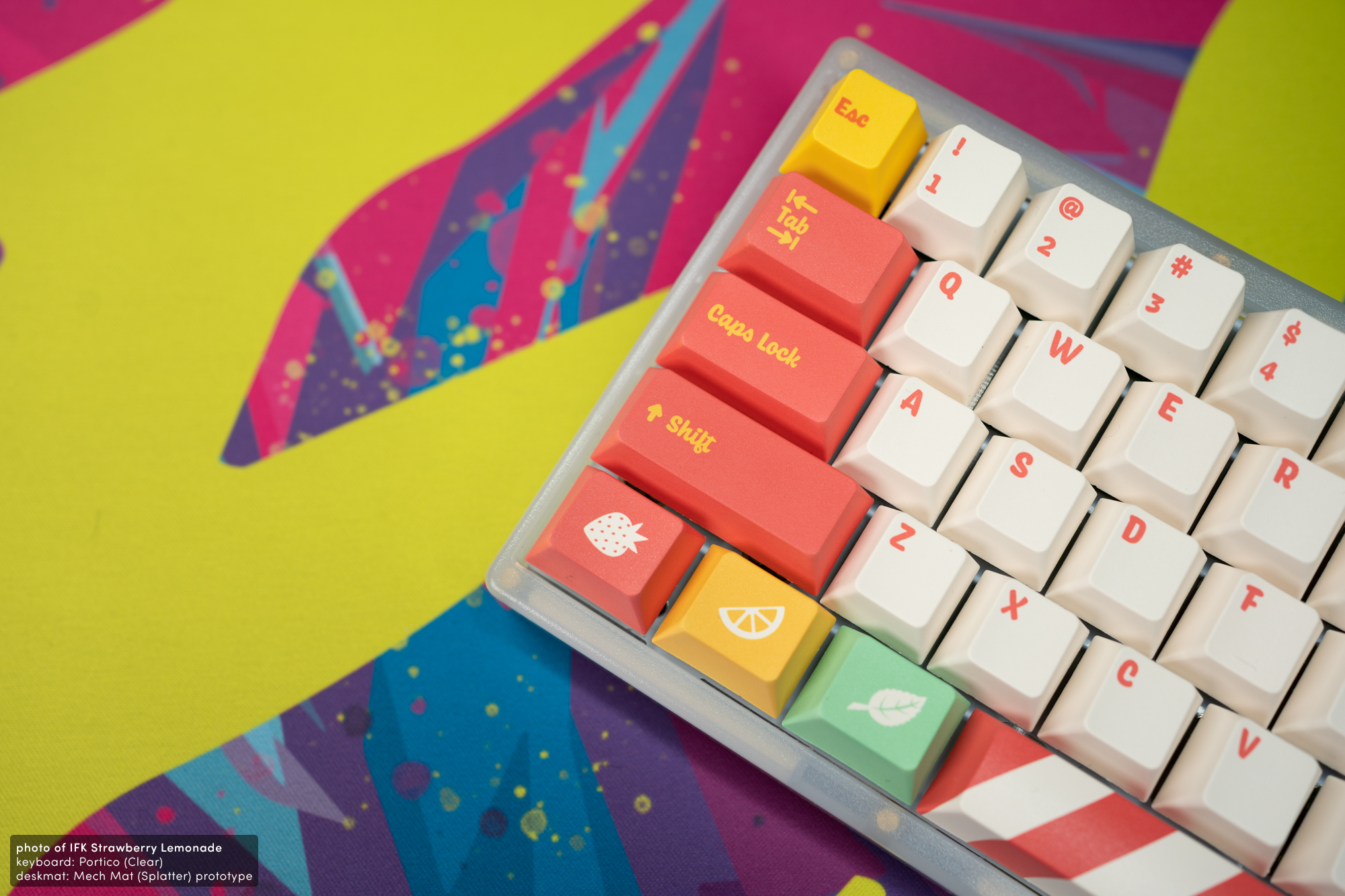 Infinikey Strawberry Lemonade Keycaps