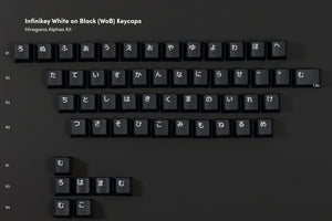 Infinikey White on Black (WoB) Keycaps