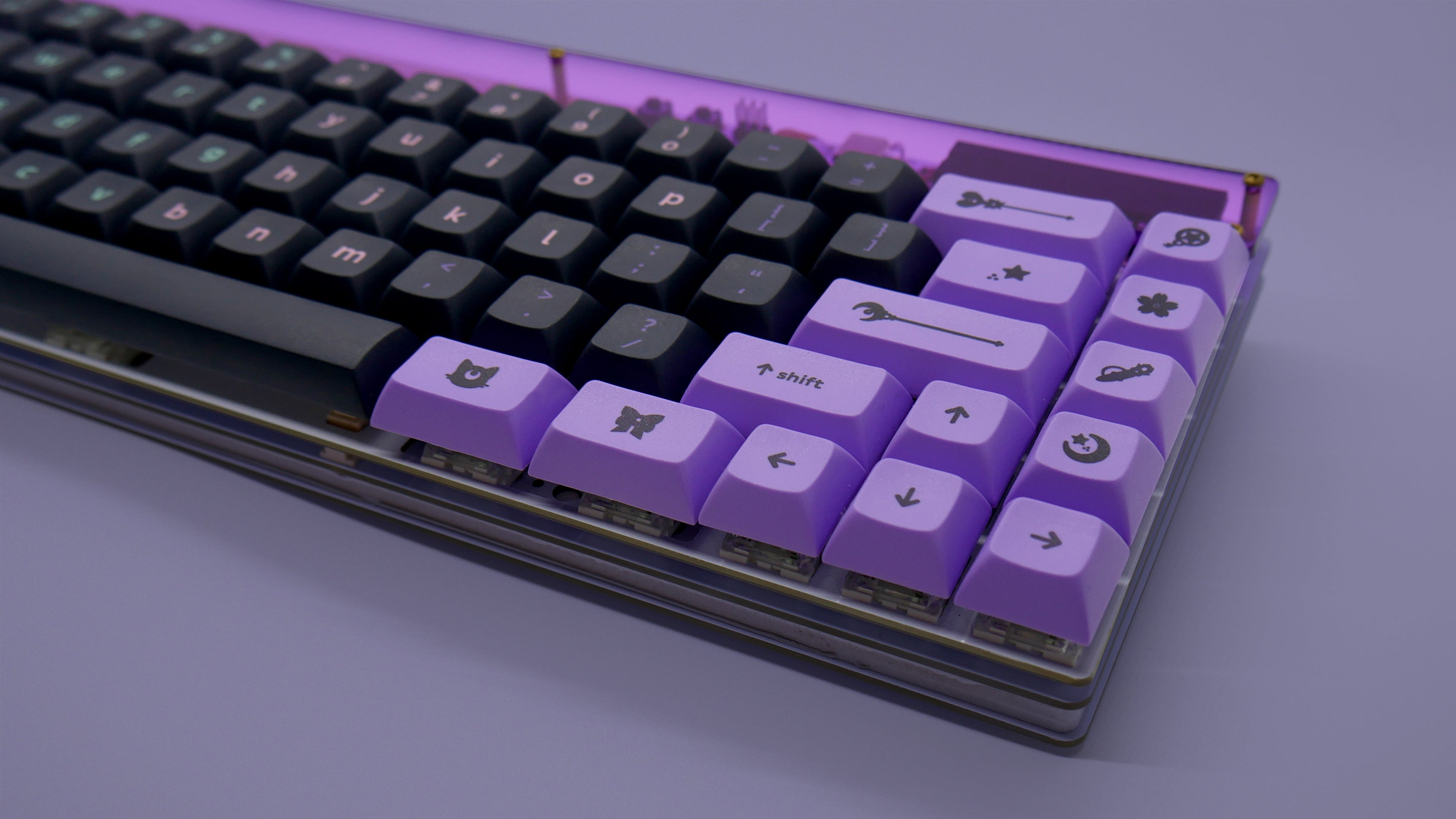 Dark Magic Girl by Infinikey prototype keycaps.