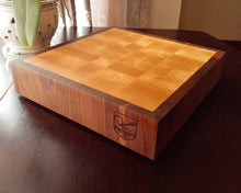 Birch and Walnut Butcher's Block