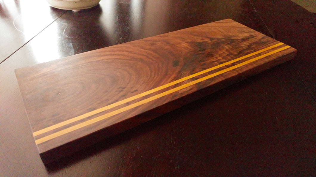 Walnut & Yellow Heart Serving Board