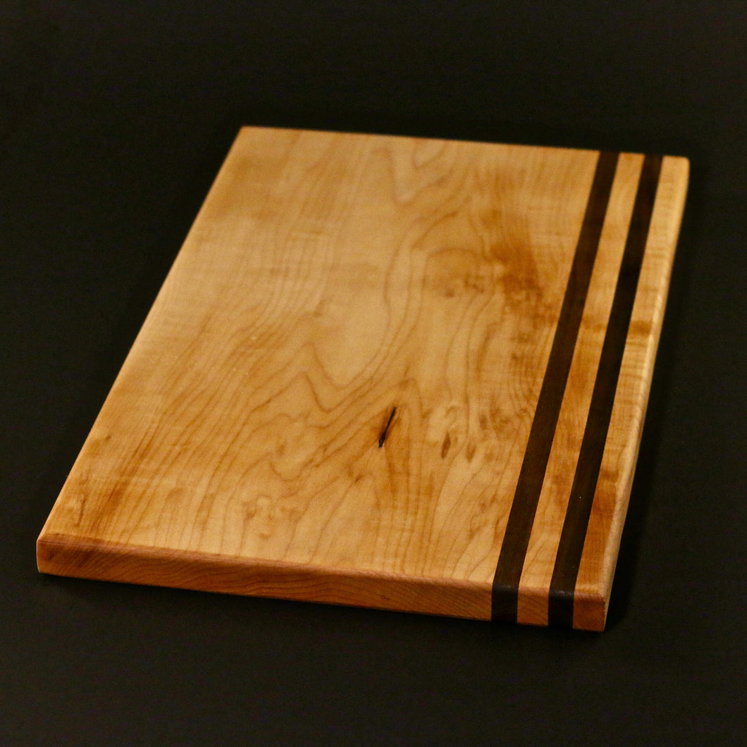 Curly Maple and Walnut Serving Platter / Cheeseboard