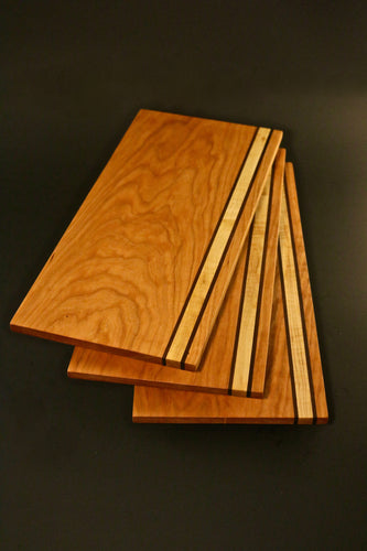 Black Cherry, Maple and Walnut Serving Platter / Breadboard