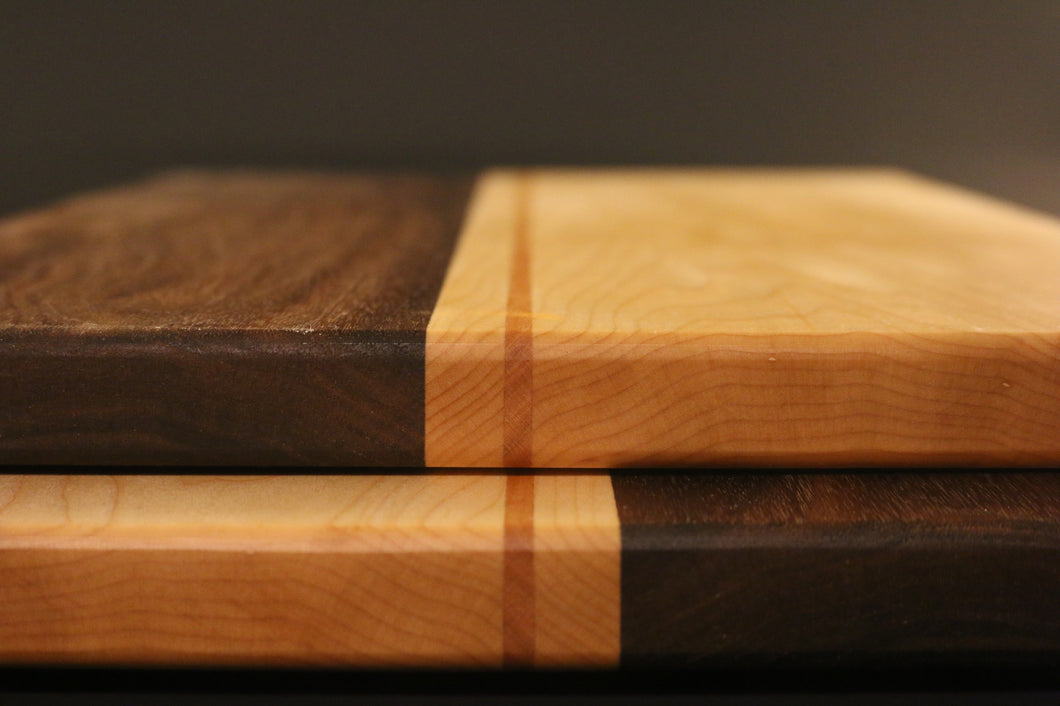 Walnut, Maple and Cherry Serving Platter - Varying Sizes