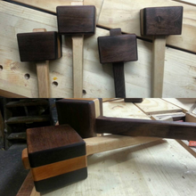 "Walnut & Maple Joiners Mallet - 4.5"" - 1 lb"
