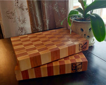 Maple and Cherry End Grain Chopping Block