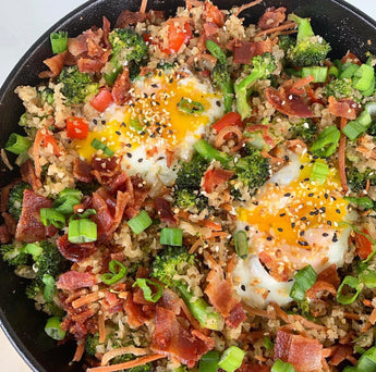 Breakfast Fried Cauliflower Rice