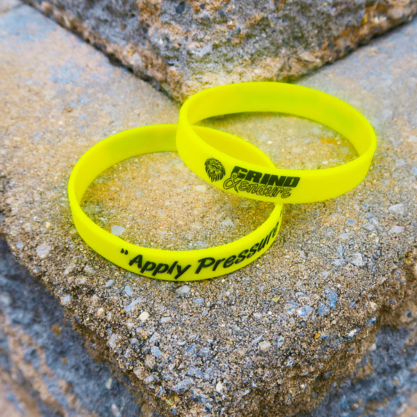 "Grind & Endure ""Apply Pressure""  Wristbands"