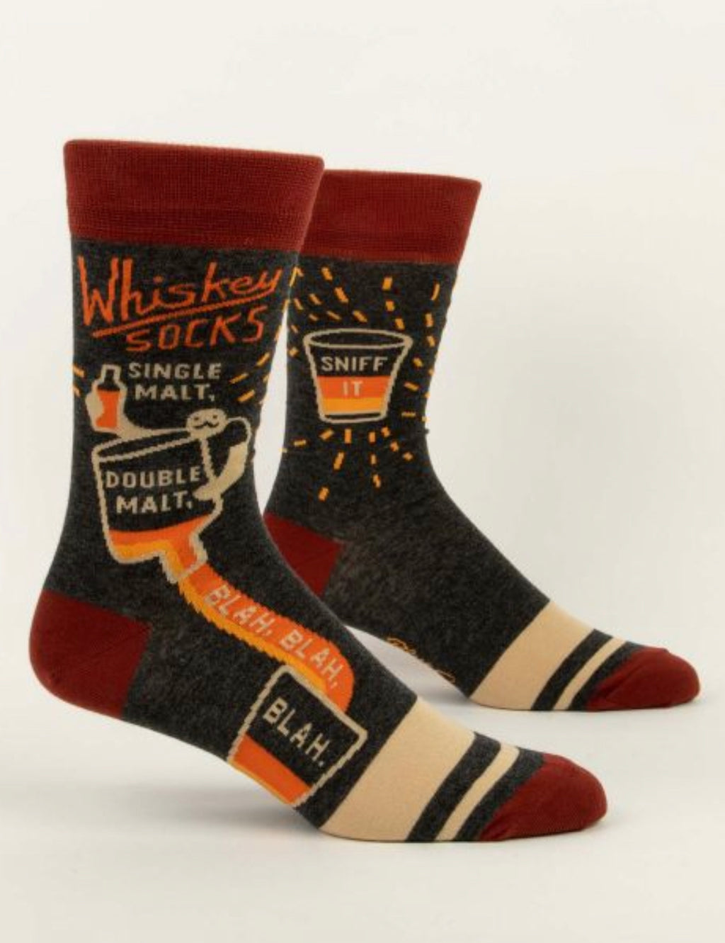 """Blue Q"" Men's Socks - Whiskey Socks"