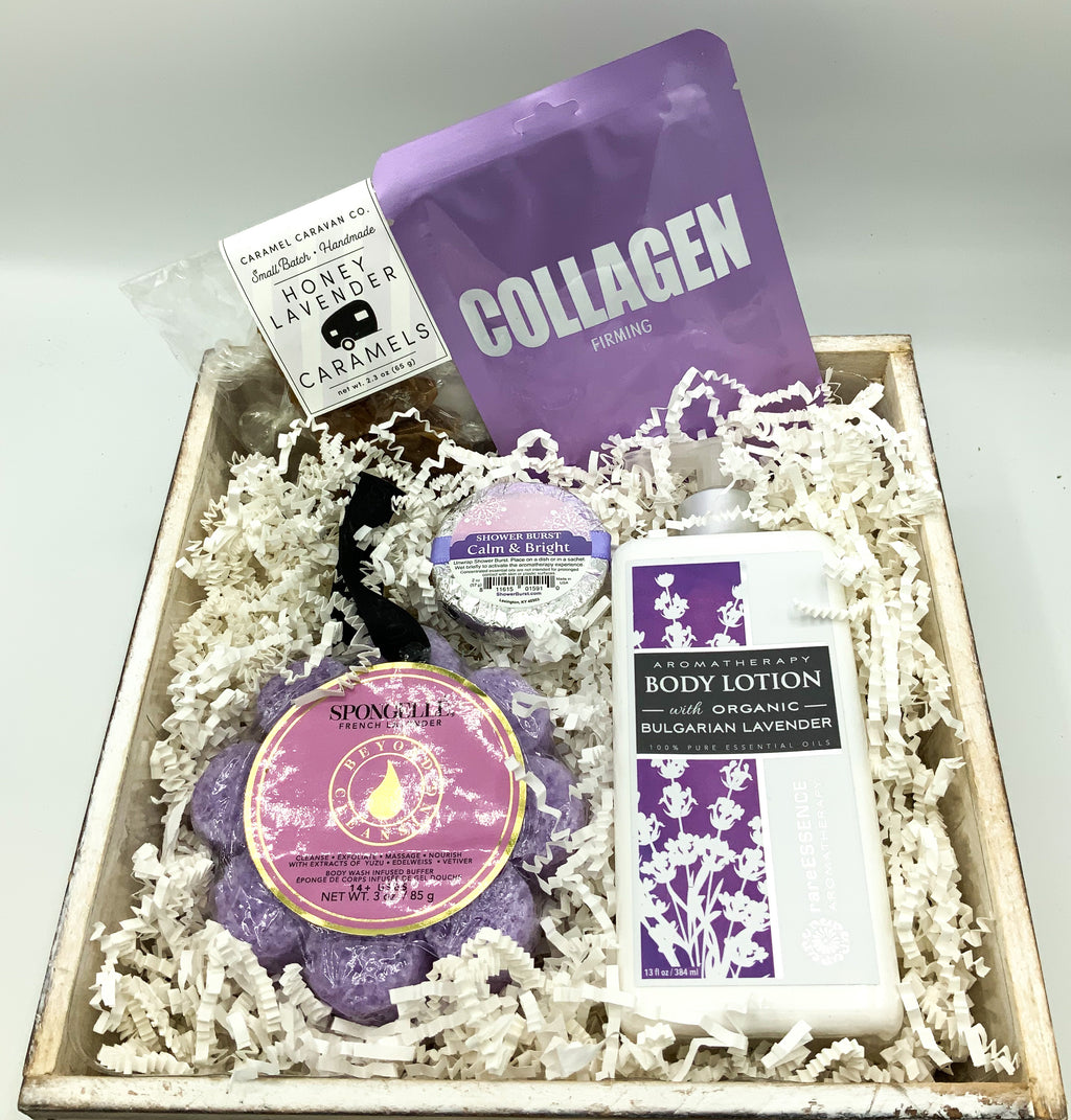 Relaxing Lavender Gift Box Birthday