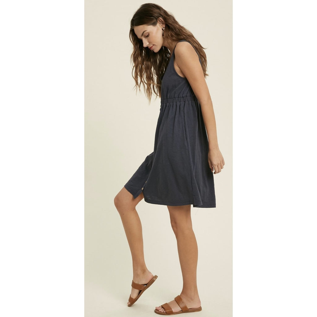 Jade Sundress In Charcoal