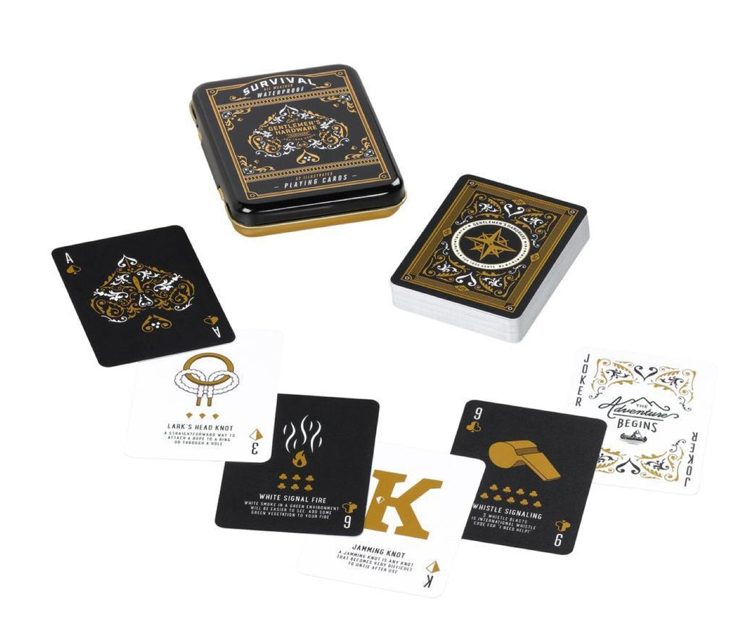 Gentleman's Hardware Waterproof Survival Playing Cards In Tin