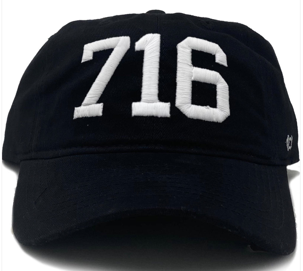 716 - Buffalo Black Embroidered Hat