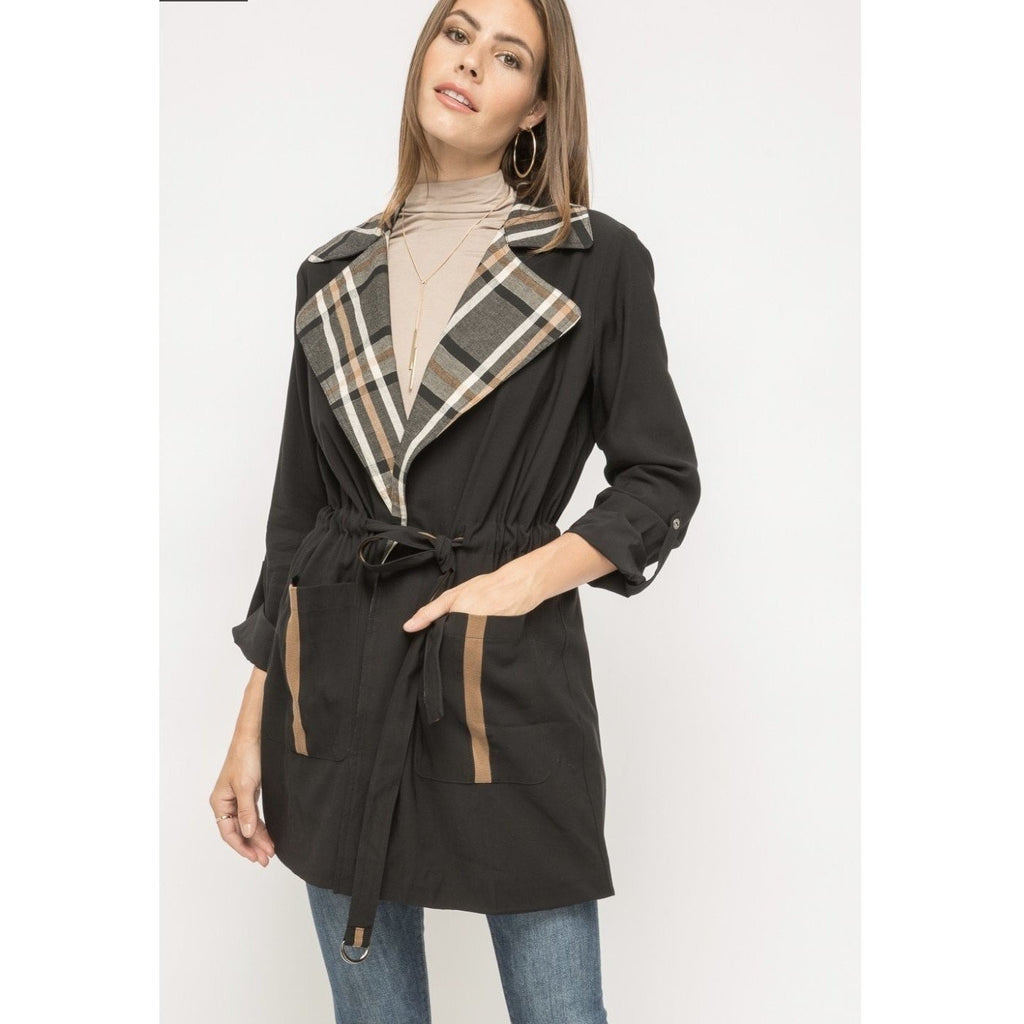 Lauren Black Plaid Jacket
