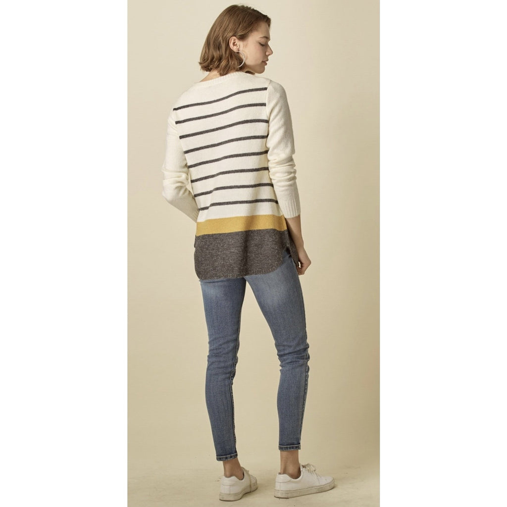 Nadine Color block Sweater