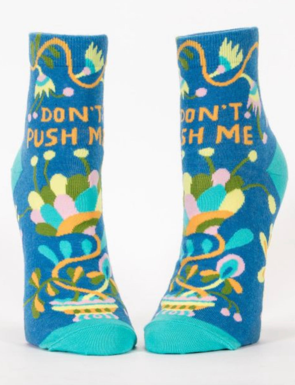"""Blue Q"" Women's Ankle Socks - Don't Push Me"