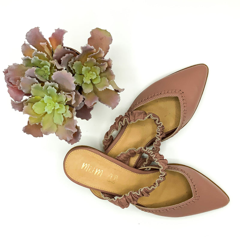 Anna White Leather Ballet Flat