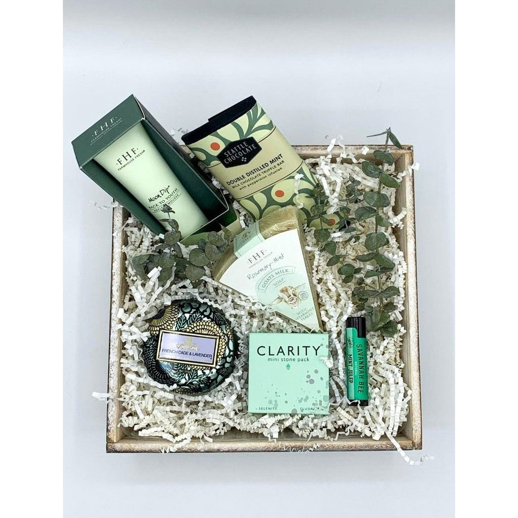 Hint of mint curated gift box Mother's Day birthday gift box