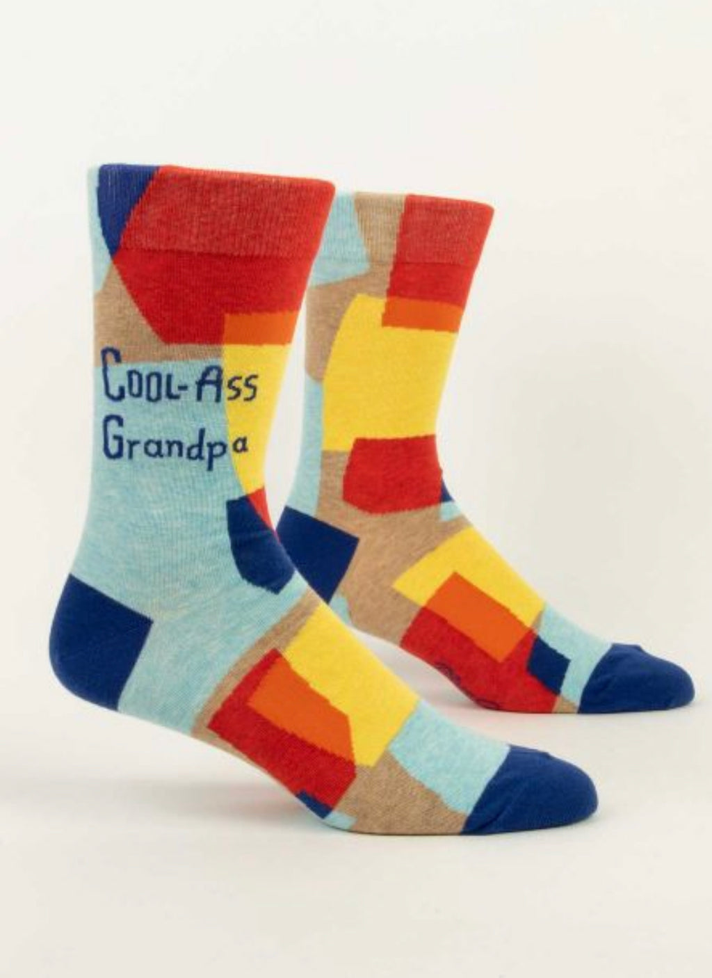 """Blue Q"" Men's Socks - Cool Ass Grandpa"