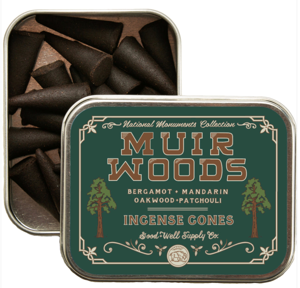 Good & Well Supply Co. Muir Woods Incense Cones