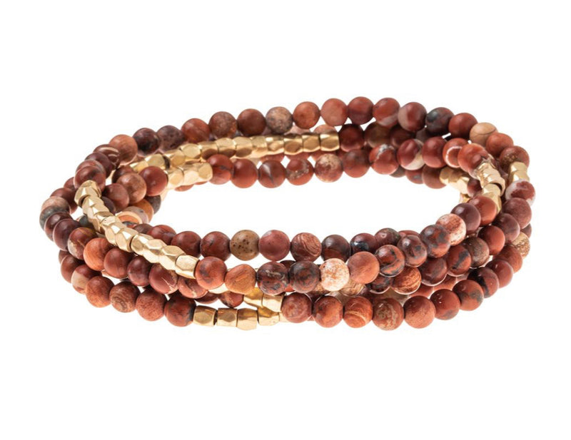 Scout Stone Wrap - Red Jasper Bracelet Necklace