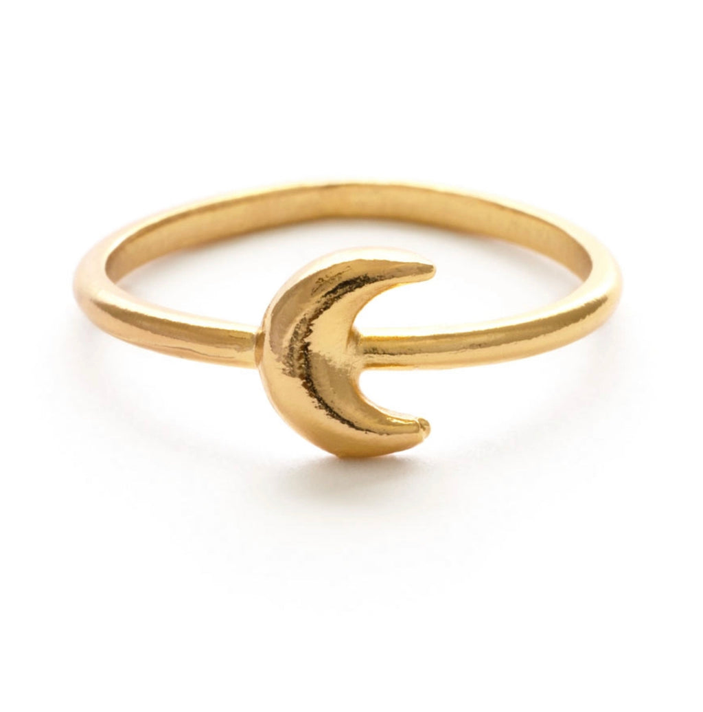 Amano Studio Tiny Crescent Moon Ring