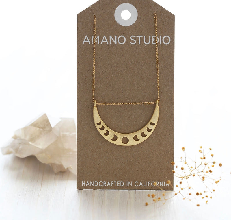 Amano Studio Phases Of The Moon Necklace - LG