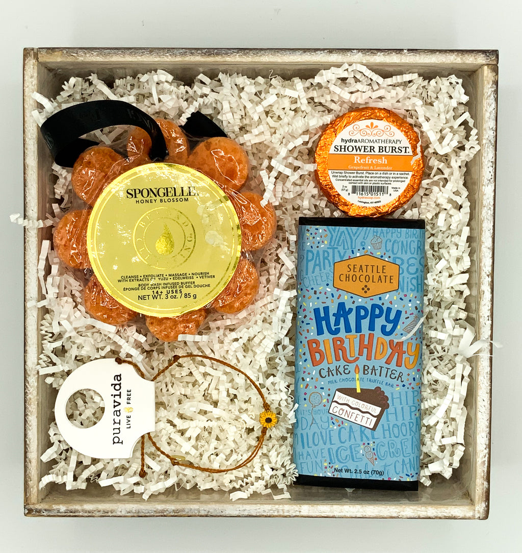 A Blooming Birthday Gift Box
