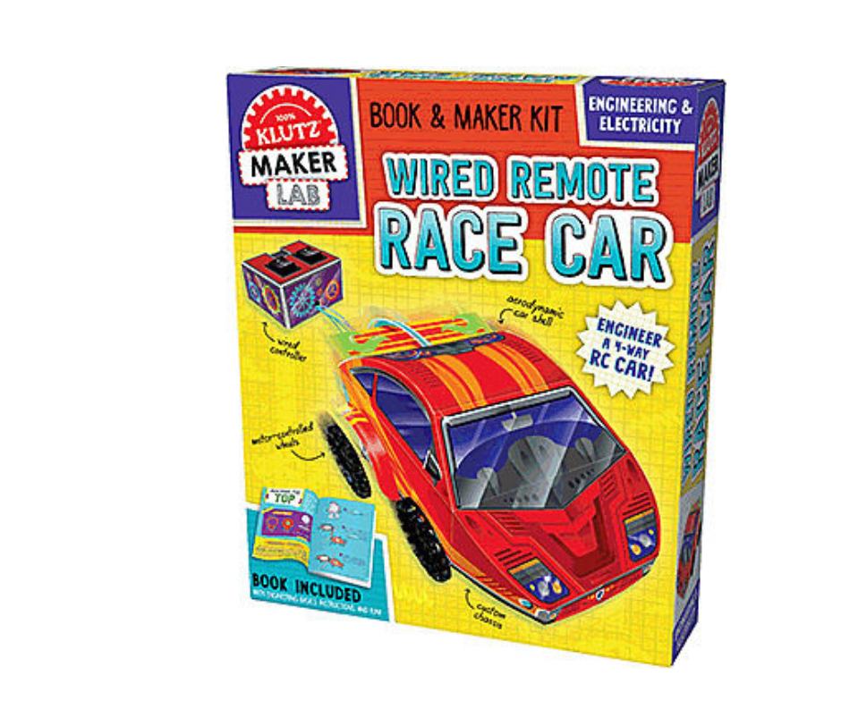 Klutz Book And Maker Kit Build Your Own Wired Remote Race Car