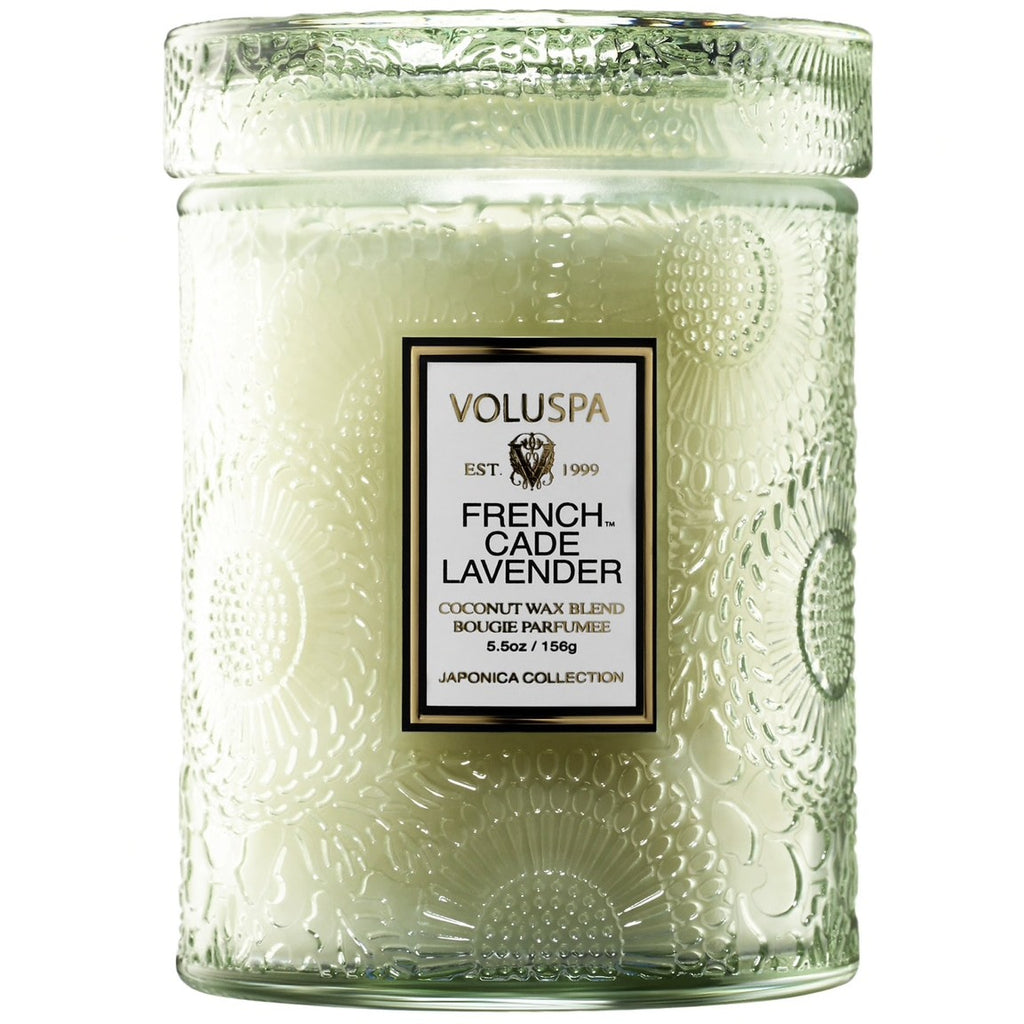 Voluspa Frech Cade & Lavender Glass Jar Candle