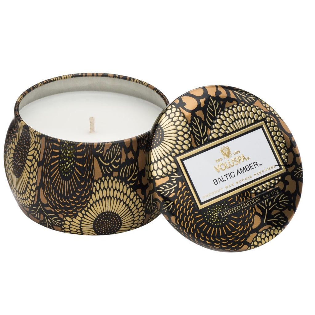 Voluspa Baltic Amber Petite Tin Candle