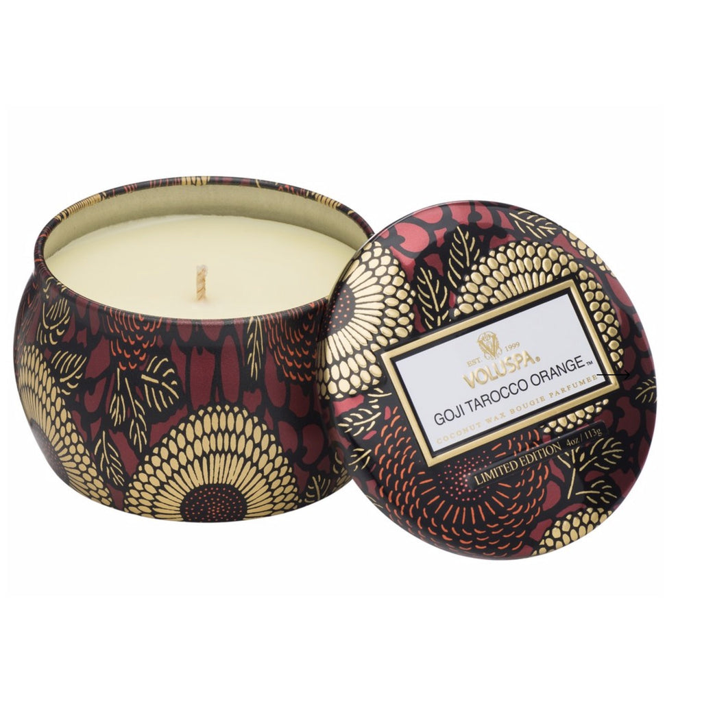 Voluspa Goji Tarocco Orange Petite Tin Candle