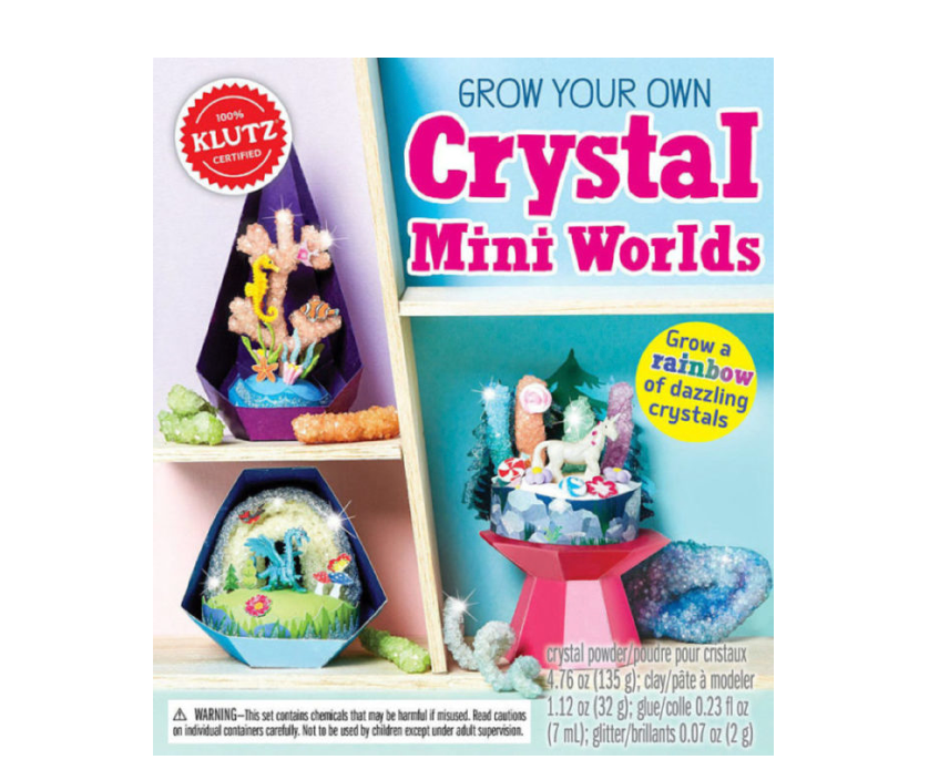 Klutz Grow Your Own Crystal Mini Worlds Art & Craft Kit