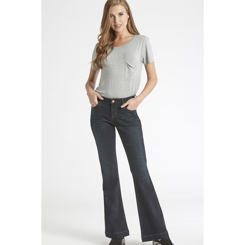 High Rise All Buttoned Up Dark Denim Jean