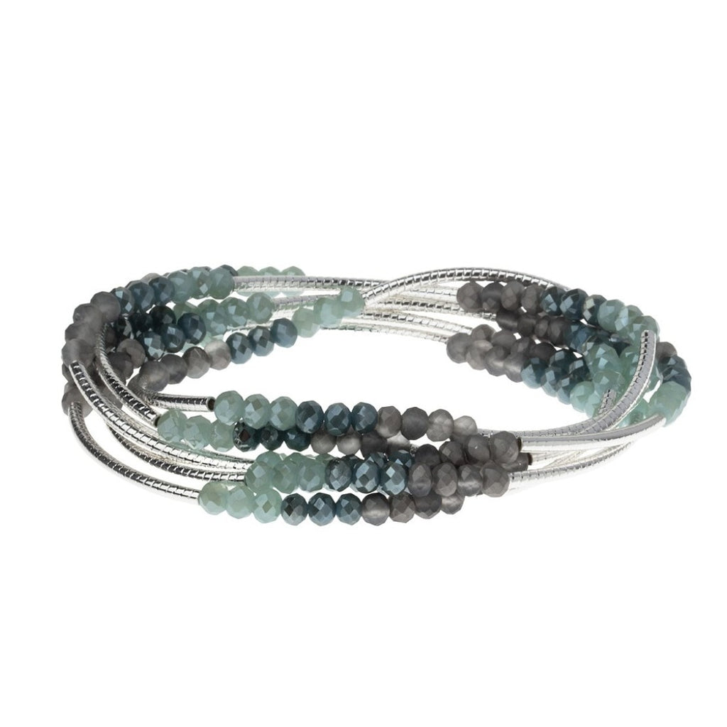 Scout Curated Wears Scout Wrap Bracelet to Necklace Marine Silver