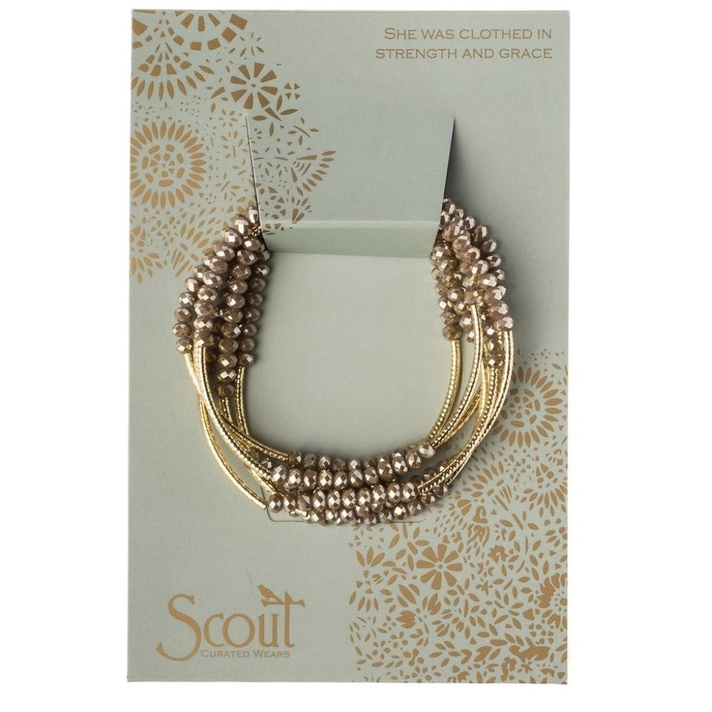 Scout Curated Wears Scout Wrap Bracelet to Necklace Oyster and Gold
