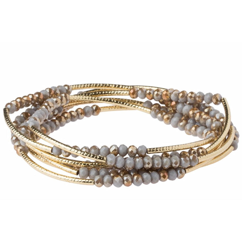 Scout Curated Wears Scout Wrap Bracelet to Necklace Silver Lining and Gold