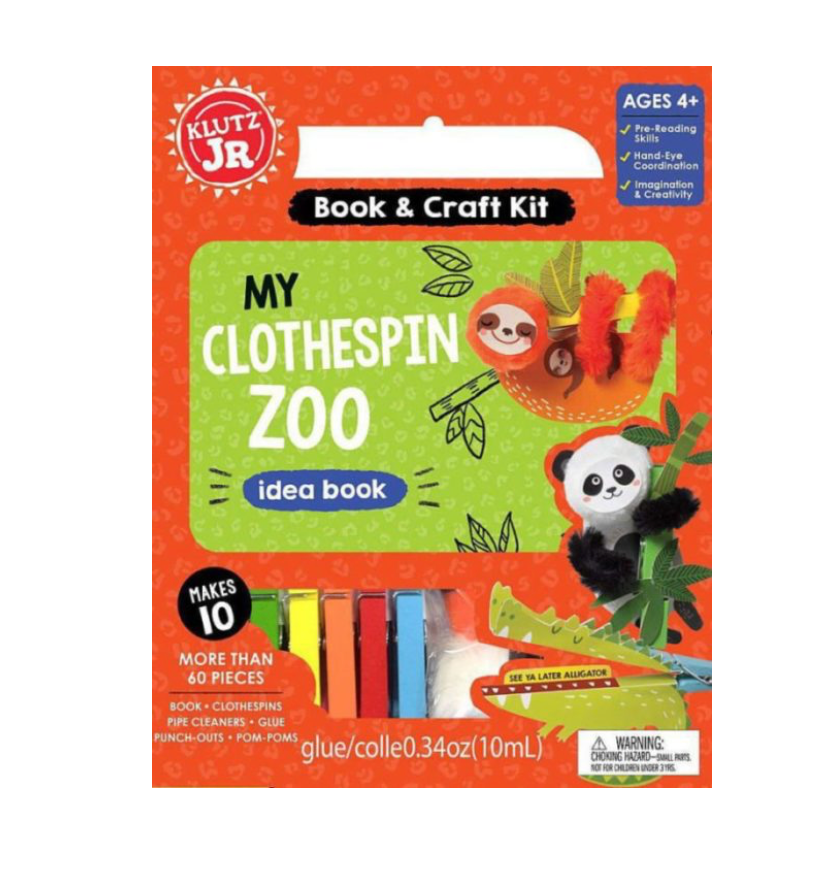 Klutz Jr. My Clothespin Zoo Book & Craft Kit