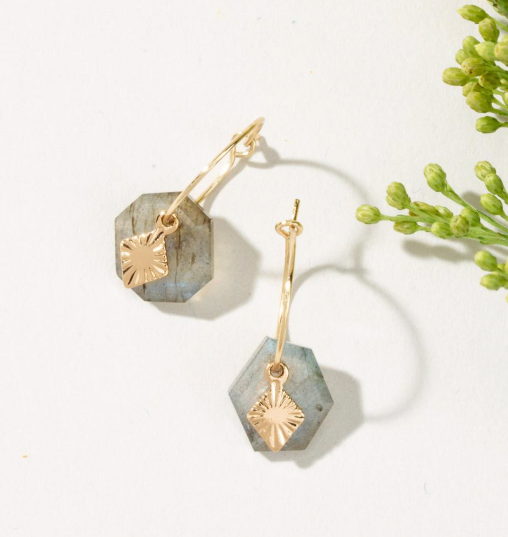 Luna Norte Labradorite Brand New Day Earrings