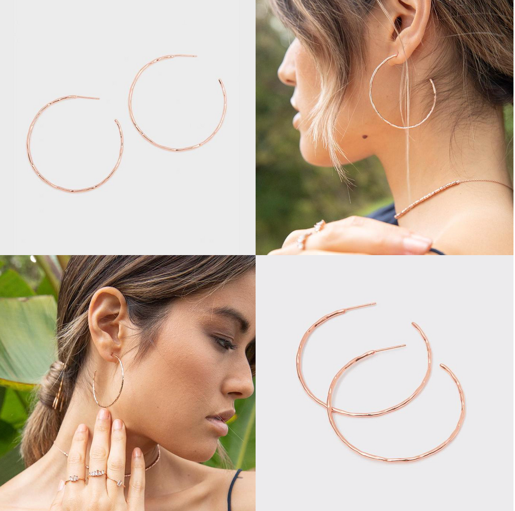 Taner Hoops - Rose Gold