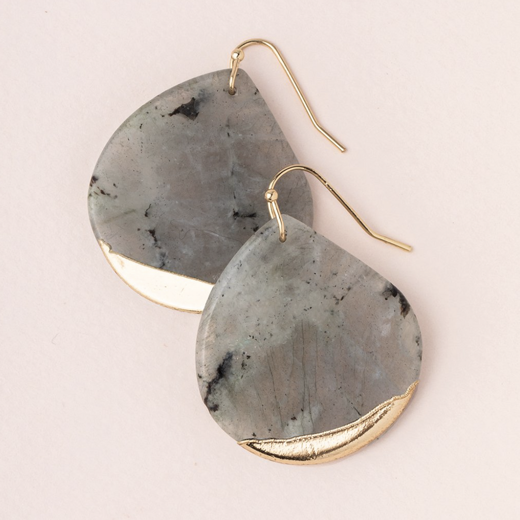 Scout Natural Stone Dipped Teardrop Earrings Labradorite