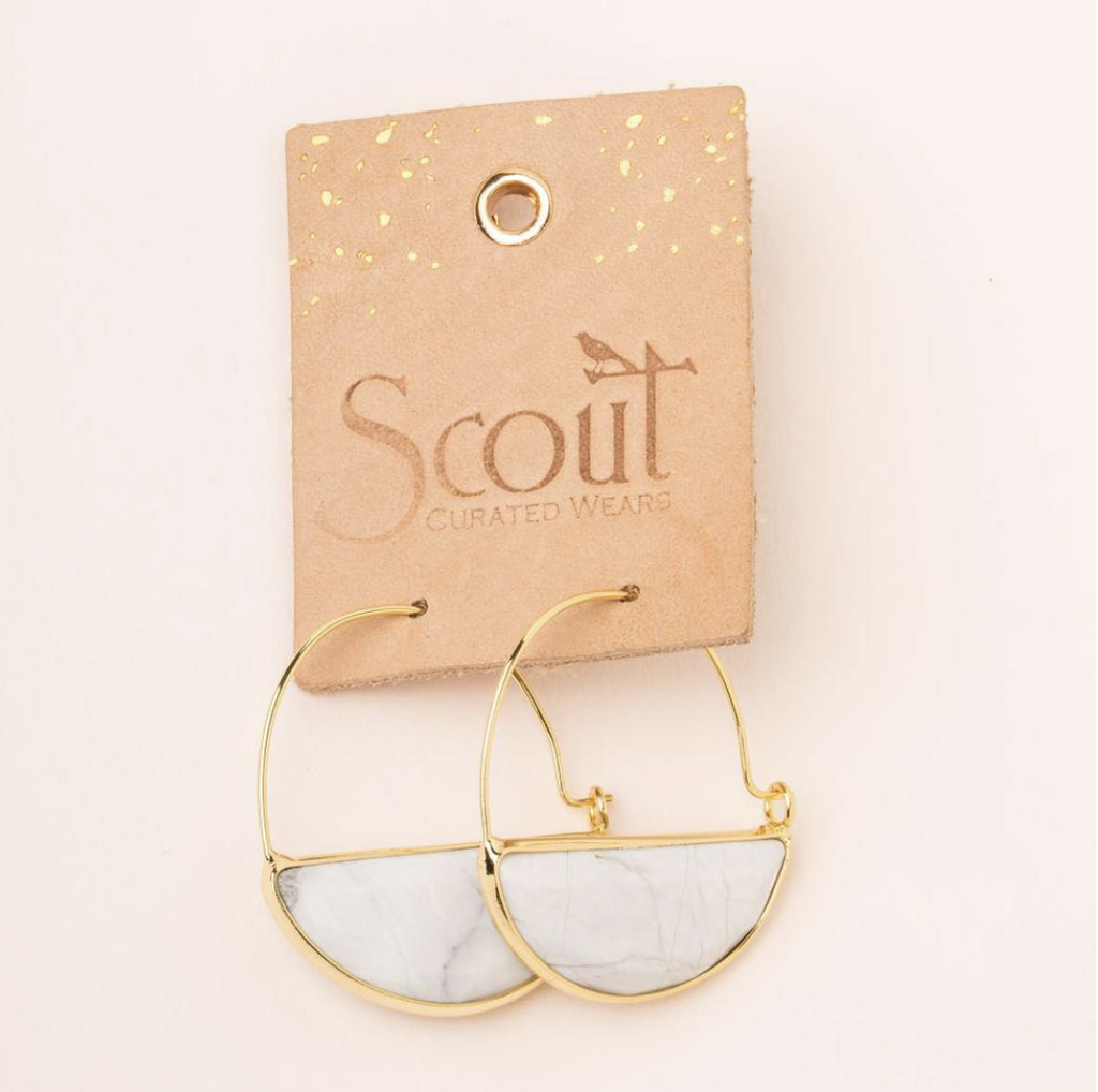 Scout Floating Stone Earrings Howlite Stone Of Harmony