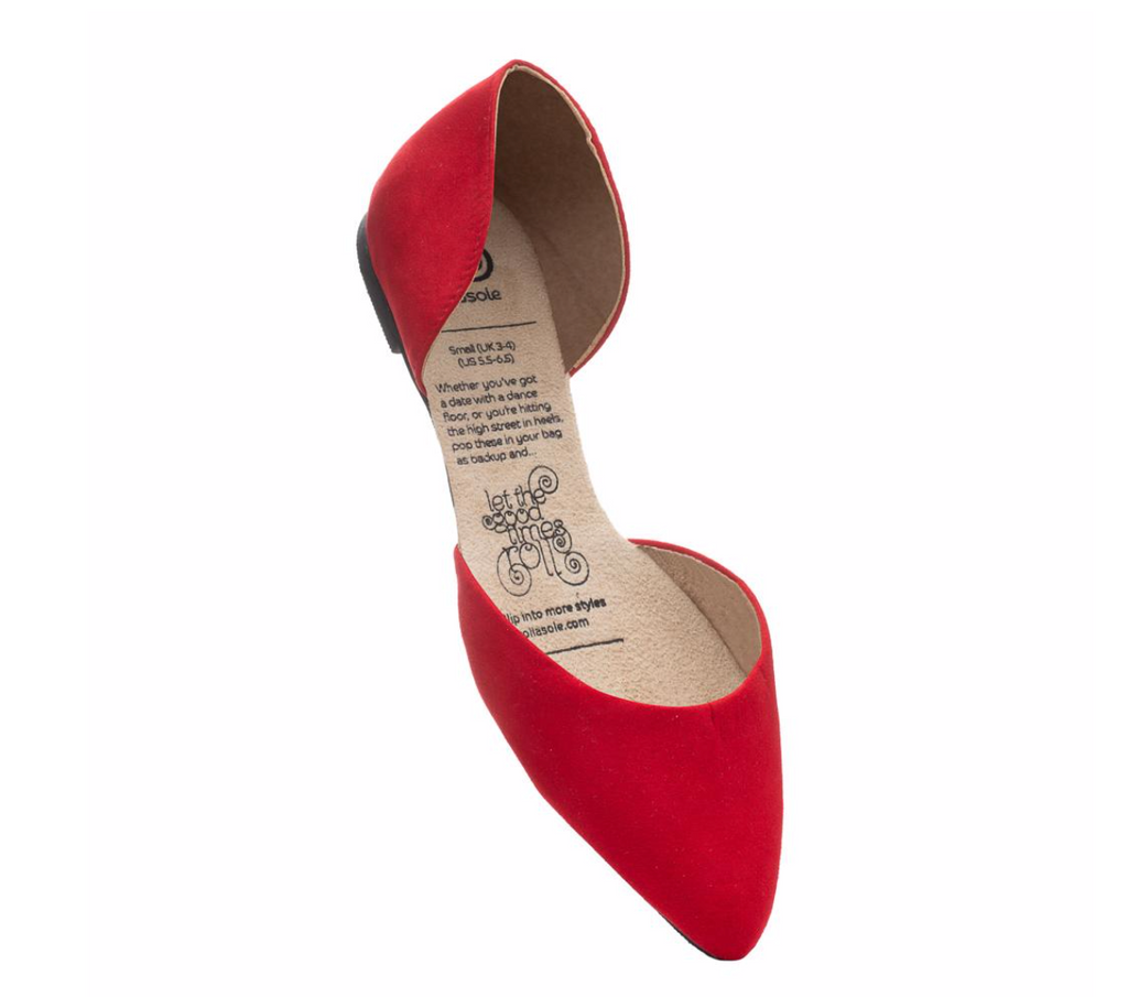 Rollasole Vixen Red Foldable Flats Shoes