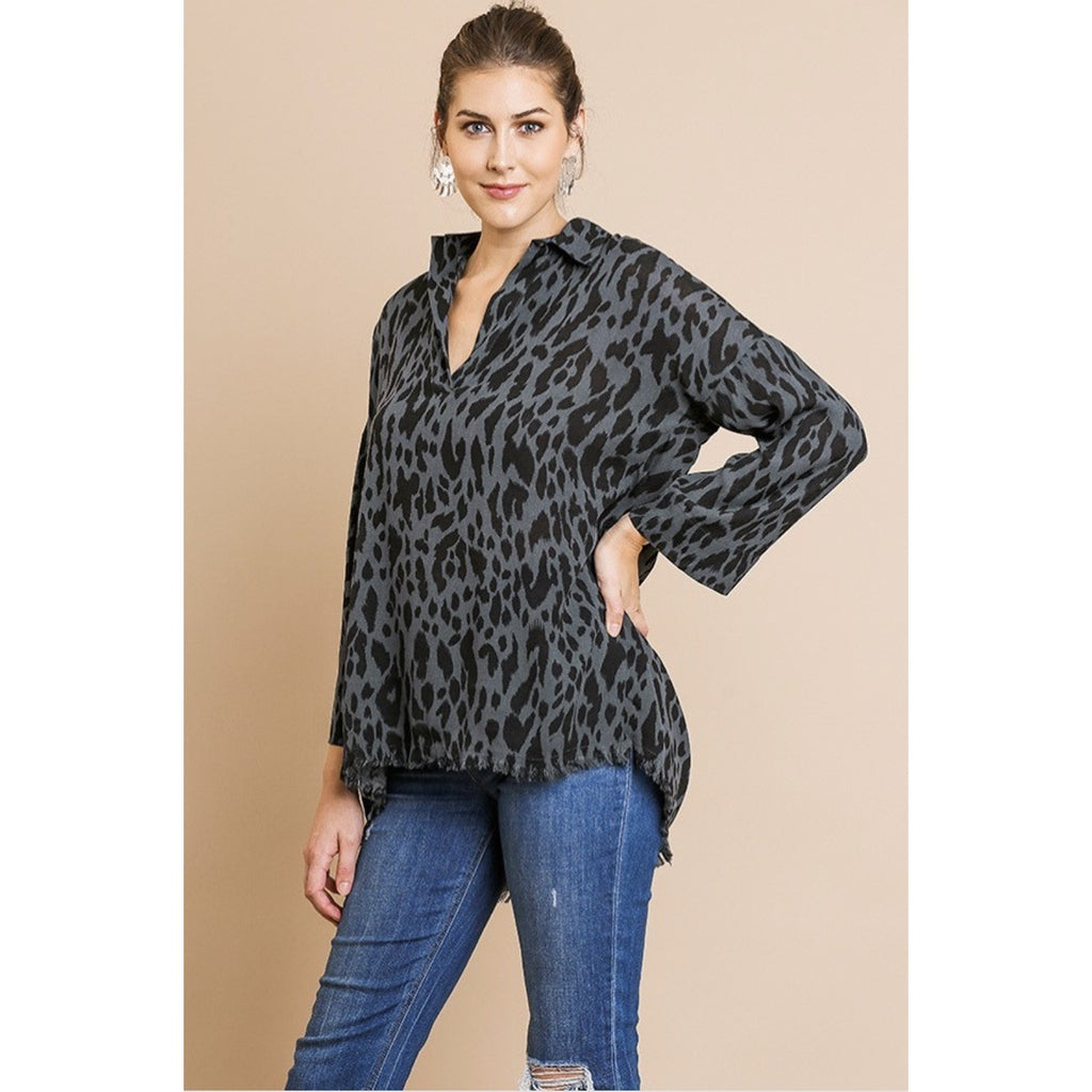 Night Out Green Cheetah Shirt